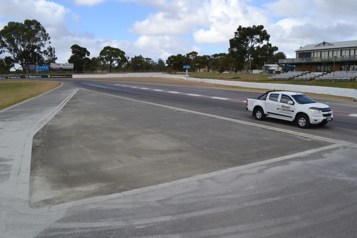Base work completed ready for Asphalt
